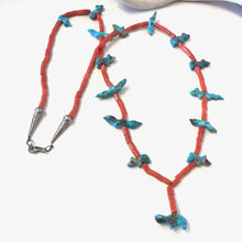 Load image into Gallery viewer, Vintage Coral & Turquoise Fetish Necklace