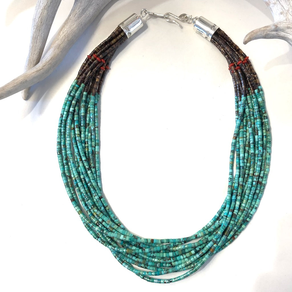 13 Strand Kingman Turquoise<br>By Everett & Mary Teller