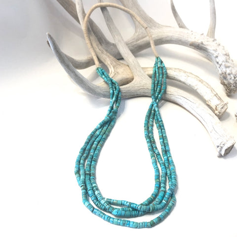 Four Strands American Turquoise Beads