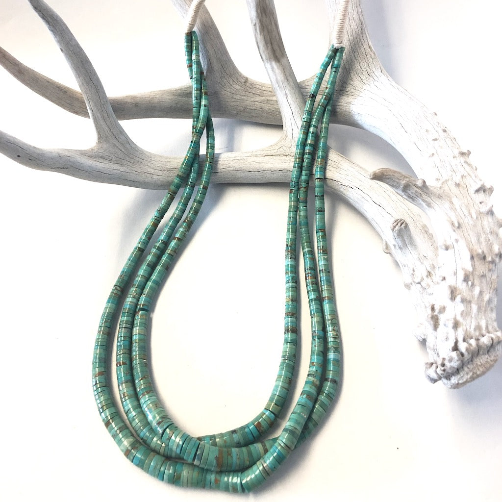 Triple Strand Green Turquoise