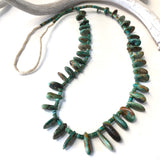 Vintage Green Tab Necklace