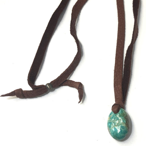 'Dinky' Turquoise On Leather<br>By Jennifer Medina