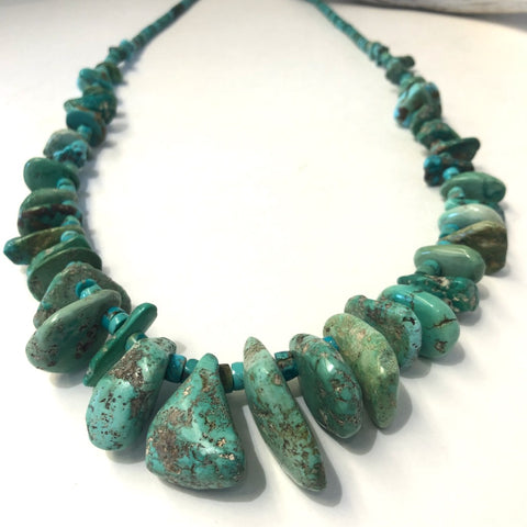 Large Old Natural Tab Necklace