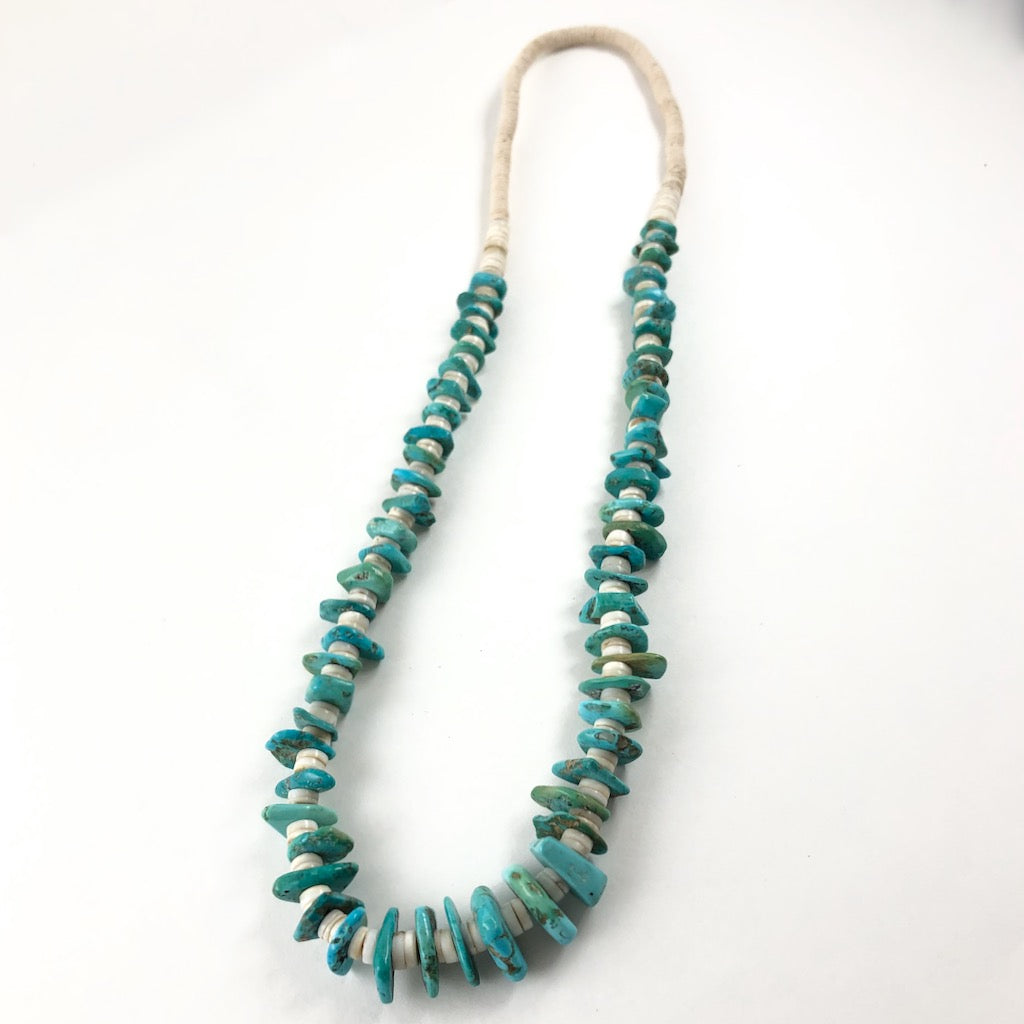 Vintage Turquoise With Heishi<br>26