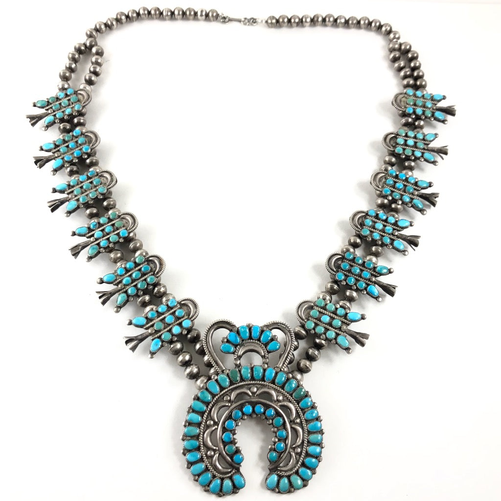 Vintage Zuni Squash Necklace