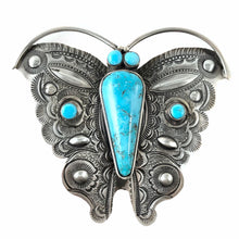 Load image into Gallery viewer, Turquoise Mountain Butterfly<br>By Art Tafoya<br>Pin/Pendant