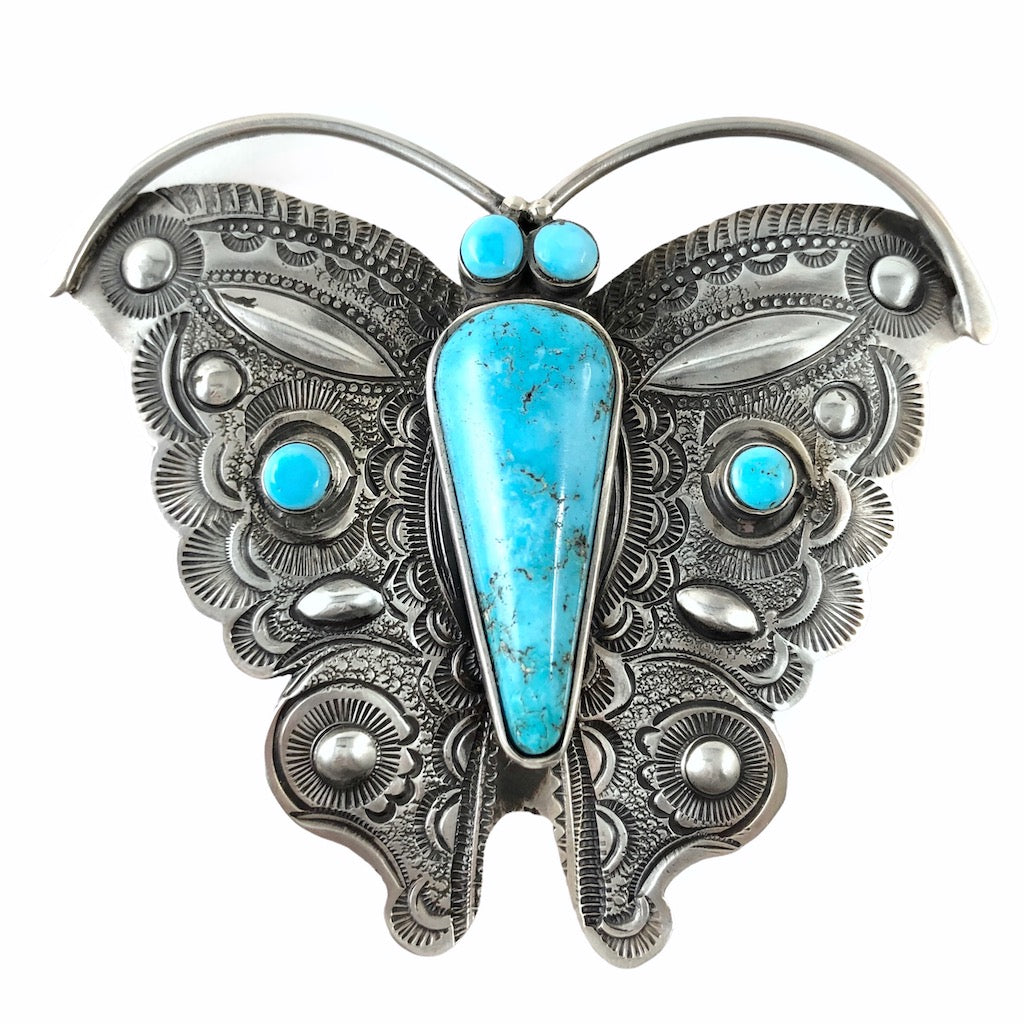Turquoise Mountain Butterfly<br>By Art Tafoya<br>Pin/Pendant
