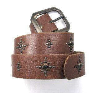 Vintage Belt With Onyx Size: 33