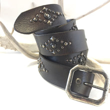 Load image into Gallery viewer, Studded Vintage Leather Belt   Size: 36""