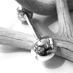 Small Silver Baby Rattle<br>By Monica Smith