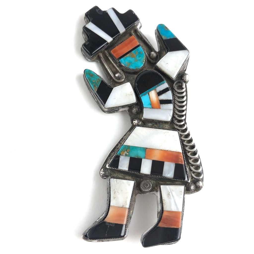 Large Vintage Rainbow Man Pin