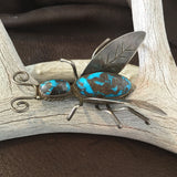 Huge Old Bug Pin Bisbee Turquoise