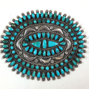 Large Old Zuni Cluster Pin