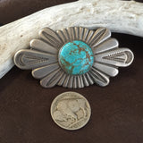 Vintage Navajo Pin Number 8 Turquoise