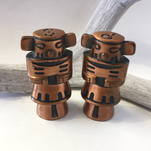 Copper Kachina Salt & Pepper Shakers