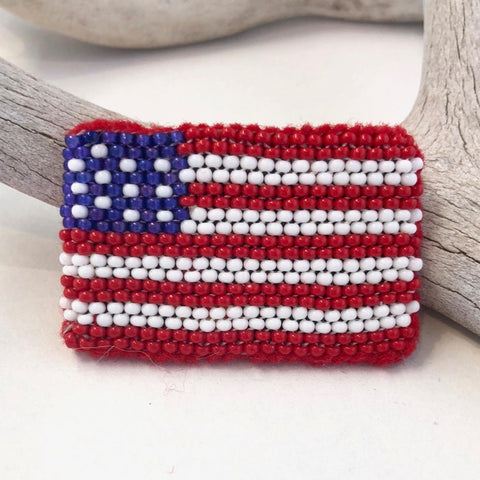 Beaded Flag Pin<br>By Anita Dewa