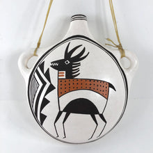 Load image into Gallery viewer, Acoma Antelope Canteen<br>By Dolores Lewis