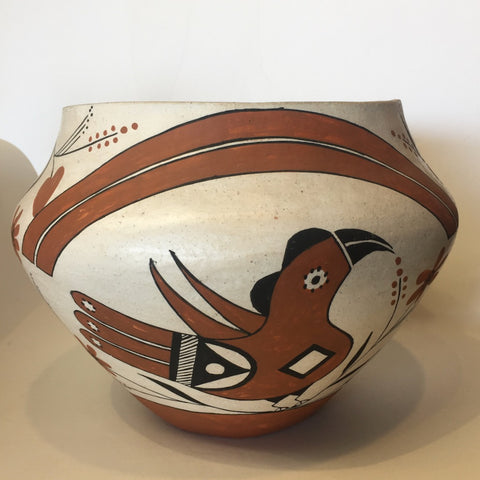 Acoma Bird Pot<br>By E. Peters