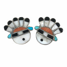 Load image into Gallery viewer, Vintage Zuni Sunface Earrings