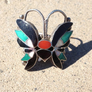 Vintage Butterfly Ring Size: 7