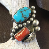 1970's Coral and Turquoise Size: 9 1/2