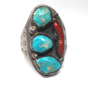 Turquoise and Coral Size: 10