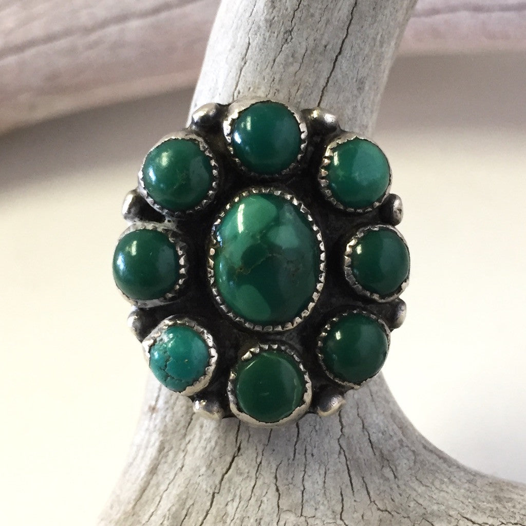 Deep Green Turquoise Cluster.......Size: 8 1/2