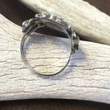 Small Perfect Cluster Ring By Milburn Dishta Size: 8
