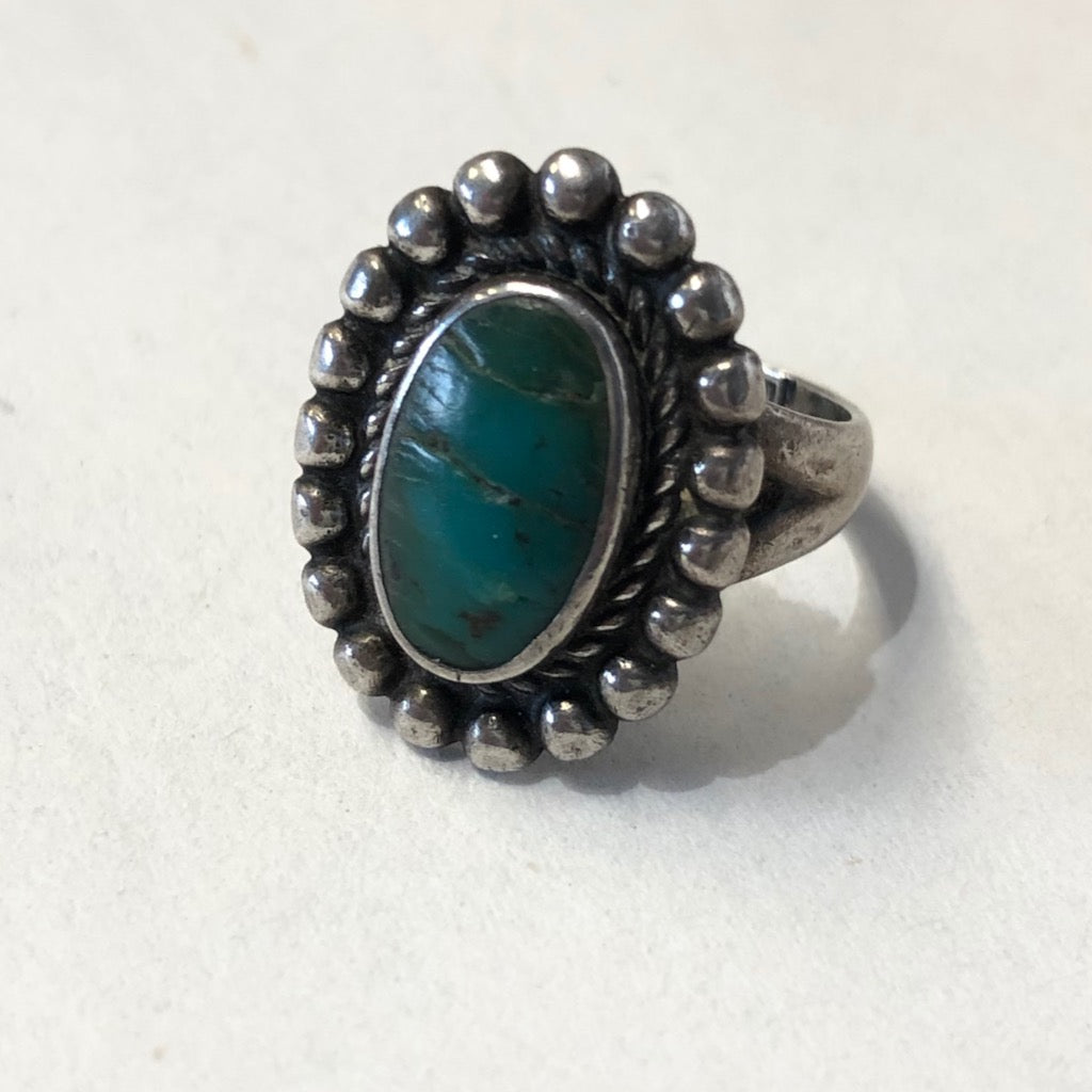 Deep Green Tourist Ring<br>Size: 5