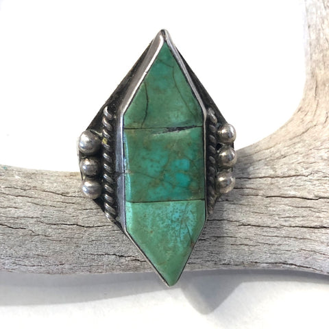 Vintage Turquoise Torpedo<br>Size: 11