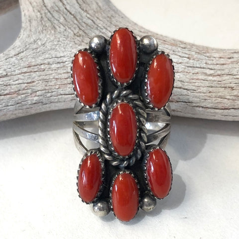 Coral Ring<br>By Marie Yazzie<br>Size: 6.5
