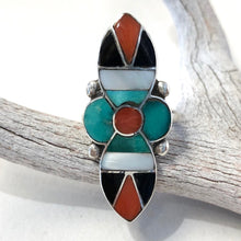 Load image into Gallery viewer, Vintage Zuni Inlay<br>Size: 5