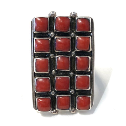 15 Stones Deep Coral<br>Size: 9