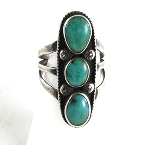 Vintage Three Stone Ring<br>Size: 7