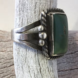 Old Square Stone Ring Size 6 1/2