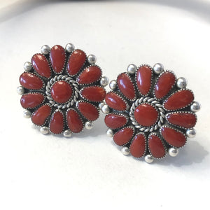 Large Alice Quam Coral Earrings