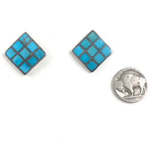 Vintage Zuni Inlay Earrings