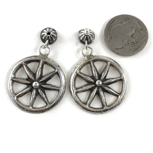 Vintage Wagon Wheel Earrings
