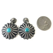 Load image into Gallery viewer, Vintage Fluted Button Earrings