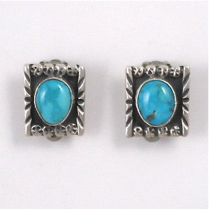 Small Vintage Navajo Clip Earrings