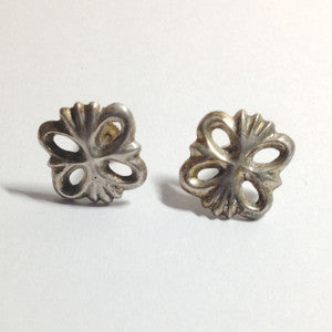 Small Sandcast Post Earrings Vintage