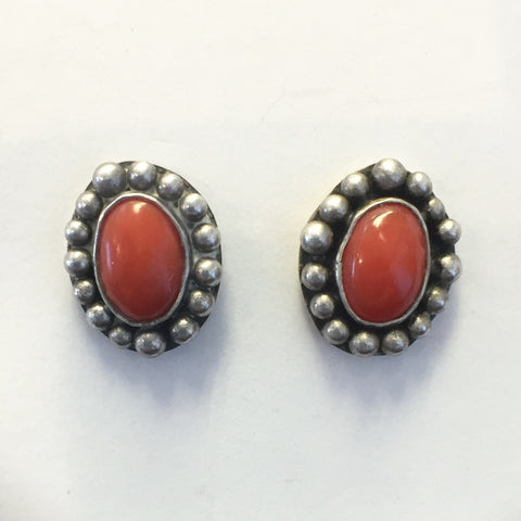 Tiny Coral Studs