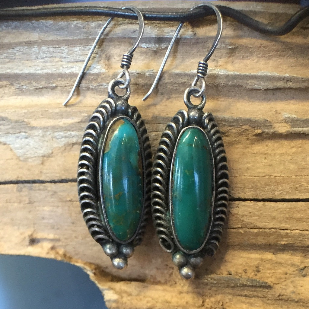 Vintage Green Blue Gem Drops