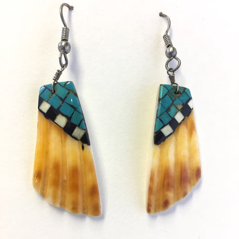 Vintage Inlaid Shell Drops