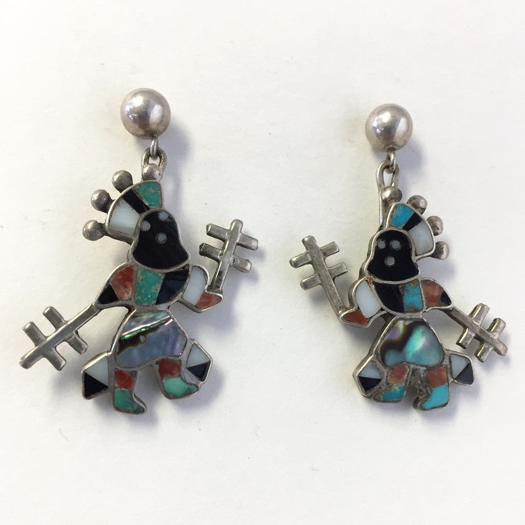 Vintage Apache Crown Dancer Earrings