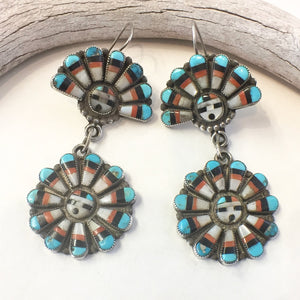 Vintage Sunface Earrings