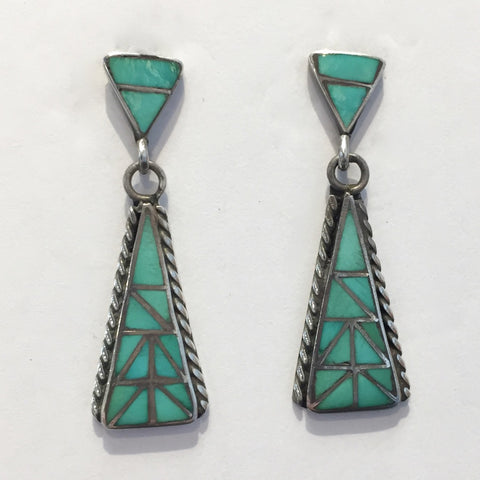 Vintage Zuni Inlay Drops