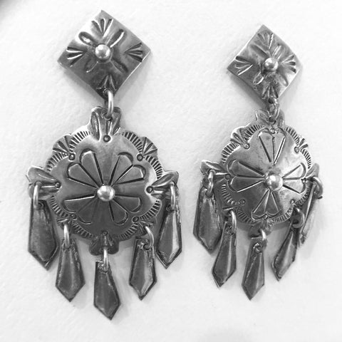 Vintage Shield Earrings