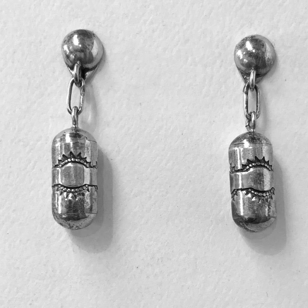 Vintage Barrel Bead Earrings