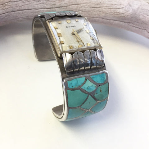 Watch Out!  Zuni Inlay Watch Cuff